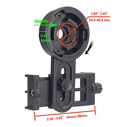 Universal Smartphone Binocular Adaptor Mount Connector Monocular Spotting Scope Telescope Microscope Cell Mobile Phone Different Size Eyepiece