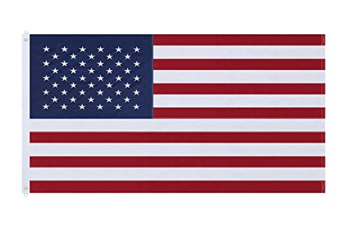 NuLink American Flag 6×10 Ft USA US Embroidered Stars Sewn Stripes Brass Grommets Flag 210D Oxford Nylon for Indoor Outdoor