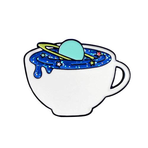 andy coolBlue Milky Way Galaxy Drop Glaze Brooch Pin Badge Suits Jacket Scarf Bag Pendant Charm Accessories Useful and Practical