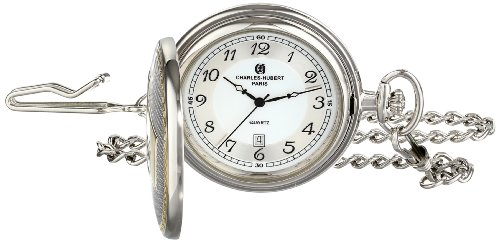 Charles-Hubert, Paris 3554 Two-Tone Quartz Pocket Watch