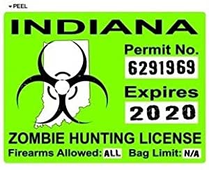 Indiana in zombie hunting license permit green for Fishing license indiana