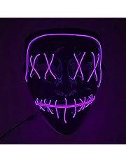 Halloween masker, LED Light up Mask LED Masker Eng masker voor Festival Cosplay Halloween Kostuum Maskerade Feesten