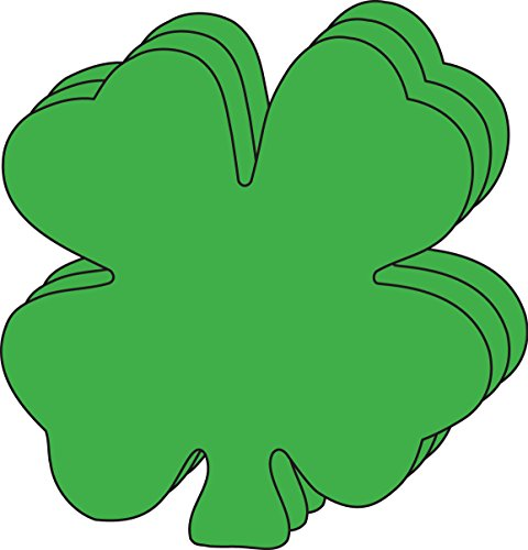 SHAPES ETC. Four Leaf Clover Large Single Color Creative Cut-Outs, 5.5