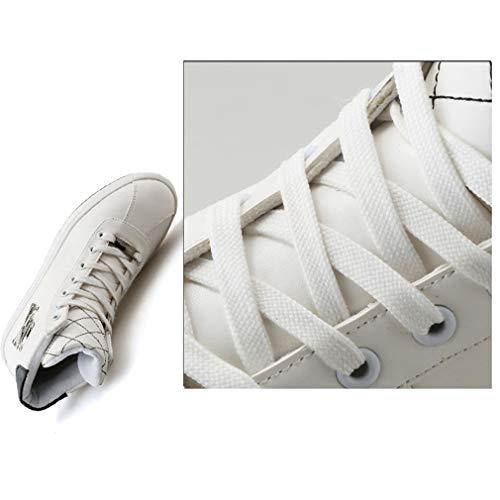 Yan Blanc Loisirs De Taille Marche Plein Pont En Bottes Chaussures À couleur Sport Crâne 41 Lacets Blanc Microfibre Air 1qFrw1xEZ