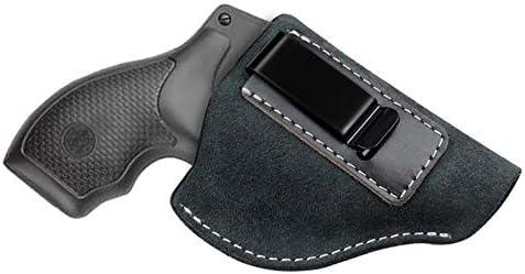 Gexgune Hunting Holster Funda de Pistola de Cuero de Gamuza Genuina para J Frame Revolver Taurus S & W Cinturón táctico Enmascarado IWB Holsters