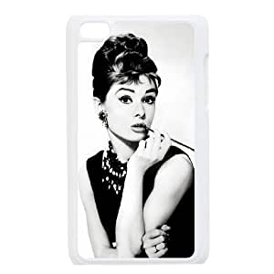 Ipod Touch 4 2D Customized Hard Back Durable Phone Case with Audrey Hepburn Image
