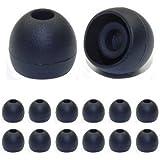 Lot de 6 paires de coussinets de rechange pour écouteur Noir Taille M