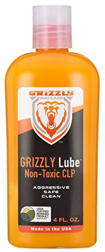 Grizzly Lube Non-Toxic CLP | All-in-One Gun Cleaner, Lubricant, Protectant | USDA Certified Bio-Based Gun Lube | Exceeds 5 MIL-SPEC Technical Standards | 4 Oz. Leak-Proof Container