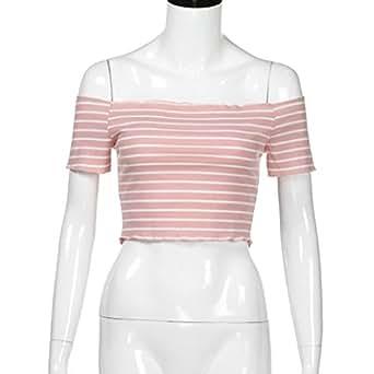 2052a07ffd6 Amazon.com: ShiTou Short Sleeve & Ladies Off Shoulder Short Sleeve ...