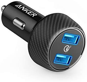 Car Charger, Anker Quick Charge 3.0 39W Dual USB Car Charger Adapter, PowerDrive Speed 2 for Galaxy S10/S9/S8/S7/S6/Plus, Note 9, Poweriq for iPhone 11/XS/Max/XR/X/8/7, Ipad Pro, LG, Nexus, and More