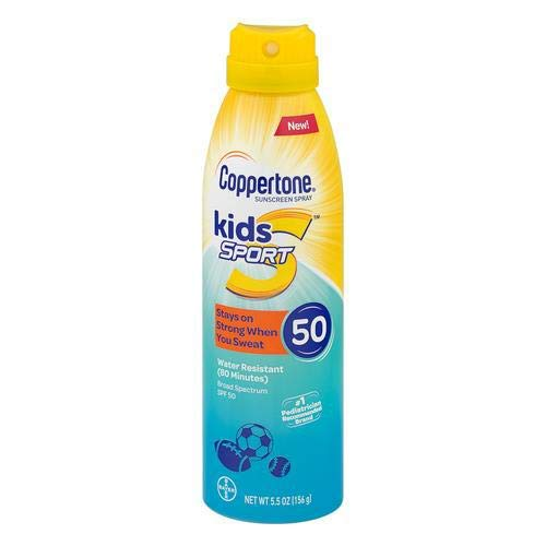 Coppertone Kids Sport Sunscreen Water Resistant Spray SPF 50 (Pack of 12)