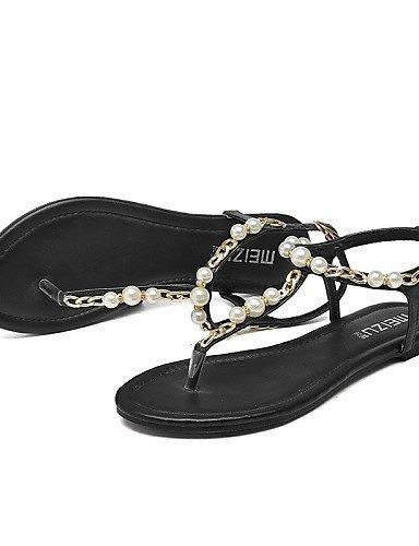 Ouvert Noire Chaussures Sangle Femmes Slingback Confort T Orteil Sandales Plat Talon Robe Shangyi Noir rr8wqS7