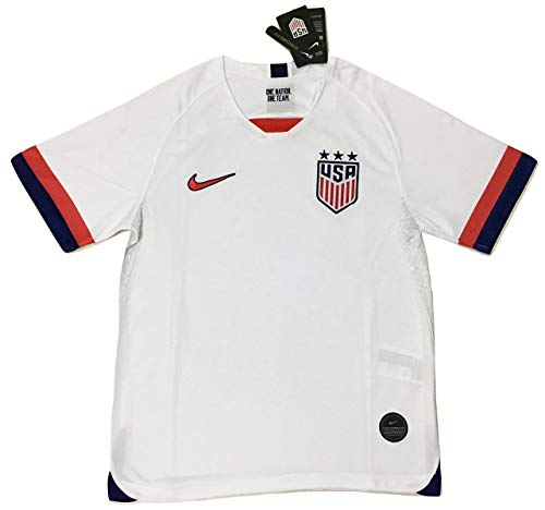 Womens Customized Replica Home Jersey - Authentic Men's USA National Team 2019 Stadium 3 Star Home Soccer Jersey White (Men's Medium)