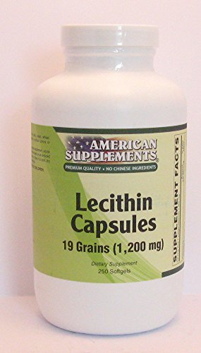 Lecithin 19 Grain American Supplements 250 (Grain 250 Softgels)