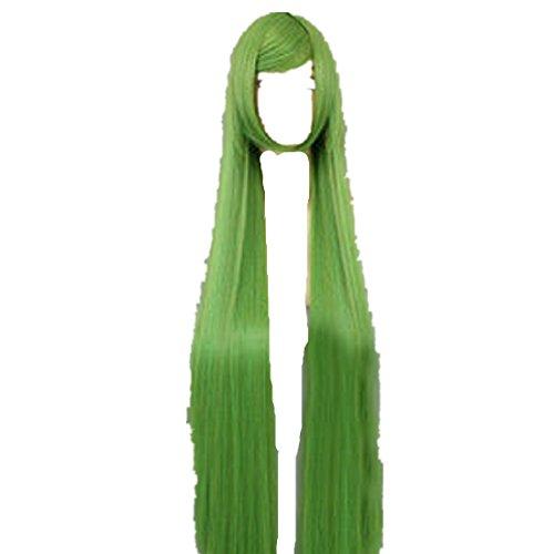 [Code Geass CC Light Grass Green 32 Long cosplay costume wig] (Cc Code Geass Costumes)