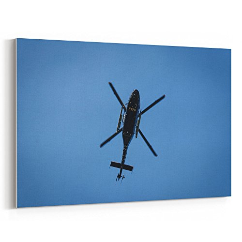 Westlake Art - Helicopter York - 24x36 Canvas Print Wall Art - Canvas Stretched Gallery Wrap Modern Picture Photography Artwork - Ready to Hang 24x36 Inch