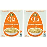 Qi'a Superfood Organic Hot Oatmeal - Superseeds and Grains - 2 Boxes with 6 Packets Each Box (12 Packets Total)