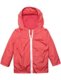 Arshiner Little Kid Waterproof Hooded Coat Jacket Outwear Raincoat,Red,Size 110