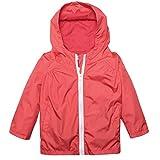 Arshiner Little Kid Waterproof Hooded Coat Jacket Outwear Raincoat,Red,Size 110