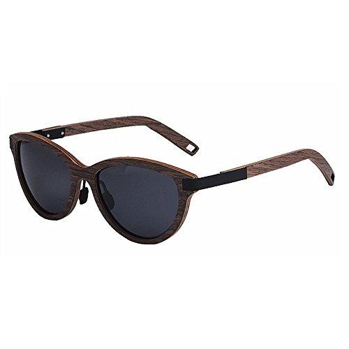 conducción TAC los de Retro UV colores gafas retro pesca hombres Playa sol madera gafas de a mano hechos Marco Protección de sol de al Gris de esquí de de polarizadas Ojos de Lente Gafas gato aire libre de wZZRgI