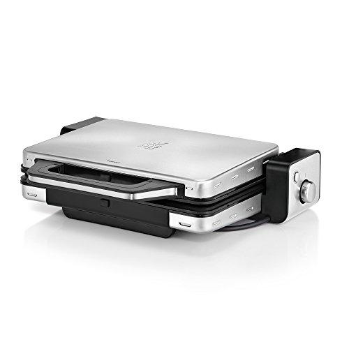 WMF LONO Kontaktgrill 2-in-1, Tischgrill, spülmaschinenfeste Grillplatten, 2100 W, cromargan matt/silber