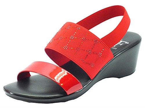 Mercante di Fiori Mm 4543 Rosso V. Rossa - Sandalias de vestir de Material Sintético para mujer Rojo