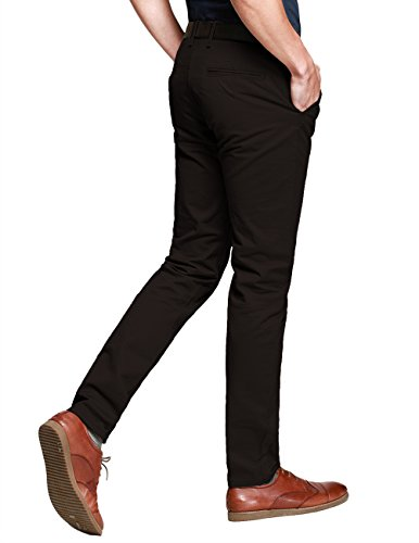 43865208 Match Mens Slim-Tapered Flat-Front Casual Pants(Army gray,32W x 31L) -  FrenzyStyle