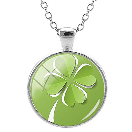 Pendant Necklaces - Beautiful Four Leaf Clover Pendants Necklace Handmade Glass Cabochon Jewelry for Women Accessories Drop Shipping QF321 - by TAFAE - 1 PCs