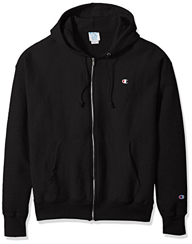 Champion LIFE Men's Reverse Weave Full-Zip Hoodie, Black, L