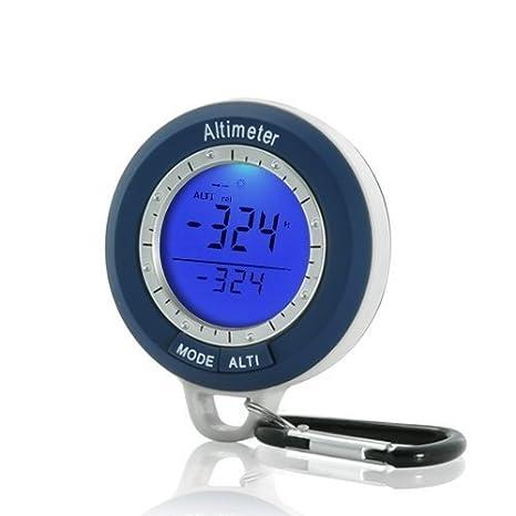 Altímetro Digital con historia de altitud, barómetro, brújula, termómetro, previsión meteorológica con reloj digital: Amazon.es: Jardín