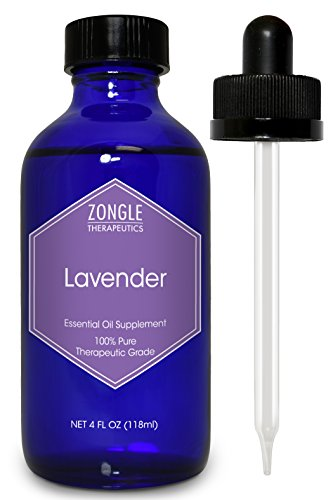 French Lavender Essential Mist - Zongle Lavender Essential Oil, French, Safe To Ingest, 4 Oz