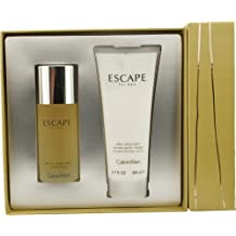 Calvin Klein Escape by for Men Edt Spray 3.4-Ounce and Aftershave Balm 6.7-Ounce