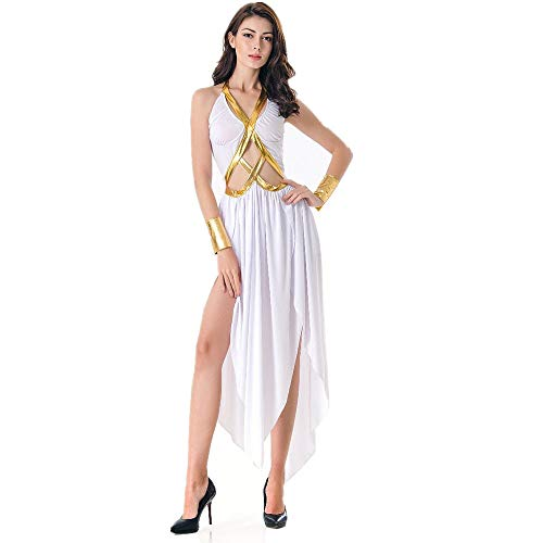 (LVLUOYE Halloween Venus Goddess Plays Costume, Cleopatra Warrior Uniform, Aladdin)