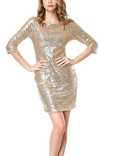 3/4 sleeve club dresses - 4