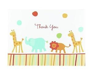 Amazon.com: Hortense B. Hewitt Jungle Animals Thank You Cards, Set ...