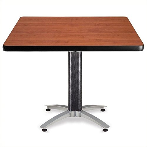 OFM KMT42SQ-CHY Square Multi-Purpose Table, Metal Mesh Base, 42'', Cherry by OFM
