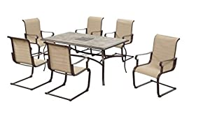 Hampton Bay Belleville Outdoor Decorative 7 Piece Patio Dining Set, Seats 6