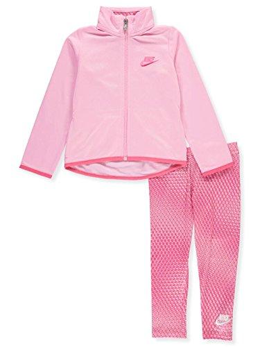 (NIKE Girls' 2-Piece Leggings Set Outfit - Pink, 6X)