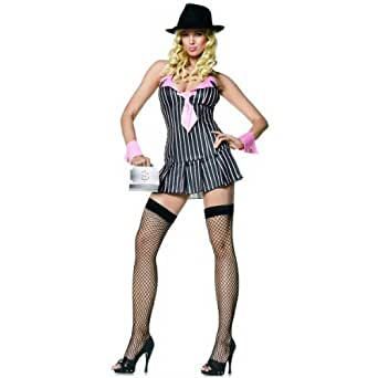 Miss Mafia Pink Costume - Small/Medium - Dress Size 4-8
