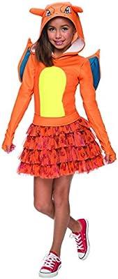 Disfraz de Charizard Pokémon para niña - 5-7 años: Amazon.es ...