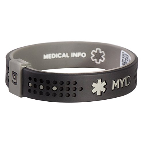 ENDEVR MyID Sport Medical ID Bracelet,Size Small Online Profile, Medical information System -