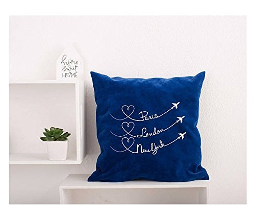 Paris London New York Pillow Cover Bedroom Decor Pillowcase Decorative Pillow Cover Planes Hearts Pillowcase Room Decor Pillow Covers - Times Shopping Indian