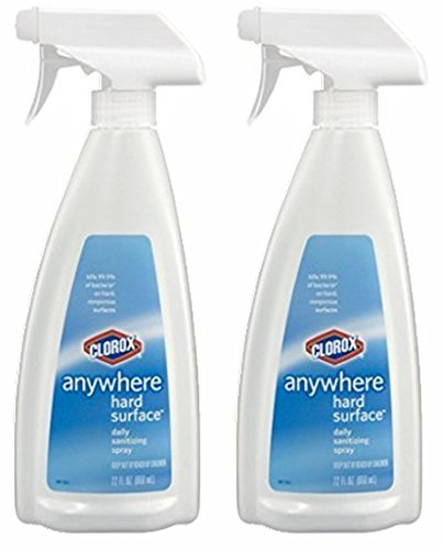 Clorox Anywhere Hard Surface Spray 22 Fl Oz (650 Ml) Pack of 2 (Chair Table Telephone With)