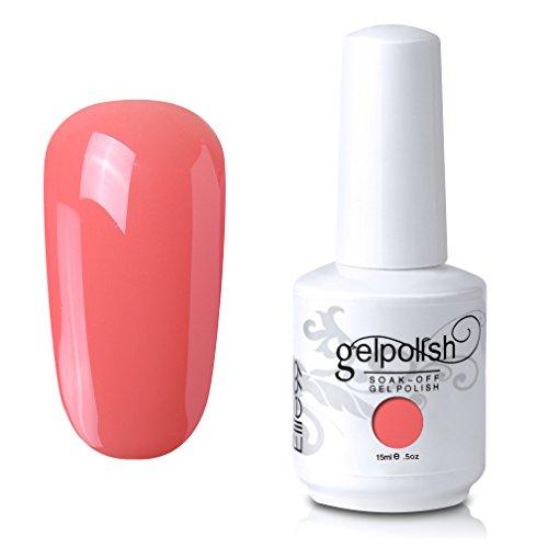 Elite99 Gel Nail Polish Soak Off UV LED Gel Lacquer Nail Art Manicure 121 Coral 15ml