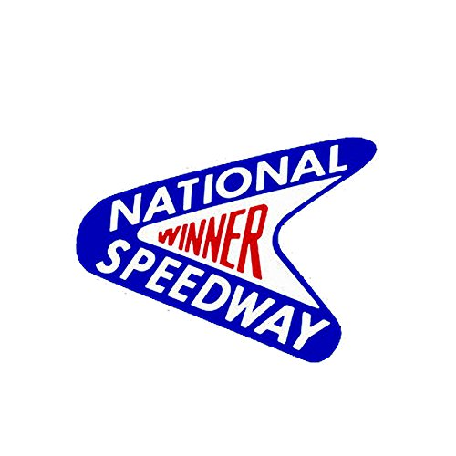 Speedway Racing - National Speedway Winner Vintage Look Drag Racing Hot Rod Decal Bumper Sticker