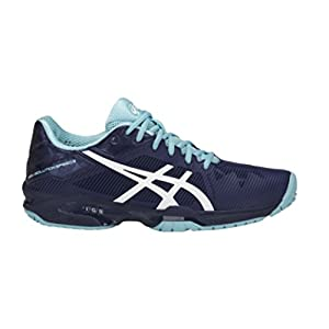 ASICS Womens Gel-Solution Speed 3 Sneaker, Indigo Blue/White/Porcelain Blue, Size 8