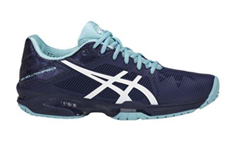 ASICS Womens Gel-Solution Speed 3 Sneaker, Indigo Blue/White/Porcelain Blue, Size 9.5