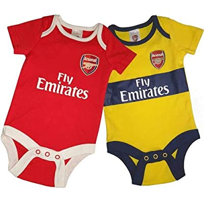Arsenal FC Cute Baby Bodysuits 2 Pack - Authentic EPL