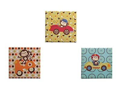 Kids Line 3 Piece Canvas Wall Art Road Rally by Kids Line