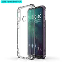 Huawei Y6P 2020 Case Cover Air Cushion Soft TPU Silicone Shockproof Anti-Slip Grip Soft Transparent case Bumper Shell for Huawei Y6P 2020 (Clear) by Nice.Store.UAE